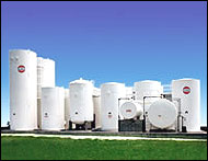 steel tanks